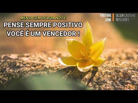 Mensagem de Boa Noite /Pense Sempre Positivo, Você é Um Vencedor!