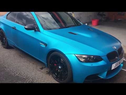 BMW M3 Satin Blue Removal (Best way to remove wrap)