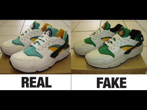 26ae966df How To Spot Fake Nike Air Huarache Trainers. Real vs Fake Comparison.
