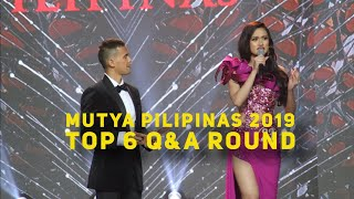 Mutya Pilipinas 2019 Final Top 6 Question and Answer Round