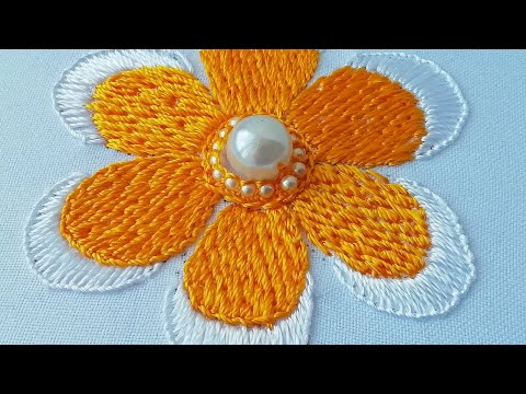 Mexican flower |  easy stitches | Flower embroidery