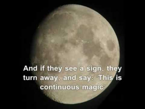 Mirracle Of Qur'an. Moon Split In Half Detailed NASA Confirmed Video Video Part 1