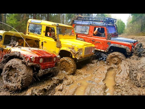 RC Cars MUD OFF Road — Land Rover Defender 90 and Hummer H1 #1— RC Extreme Pictures - UCOZmnFyVdO8MbvUpjcOudCg