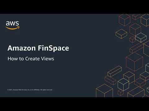 How to: Create Views in Amazon FinSpace