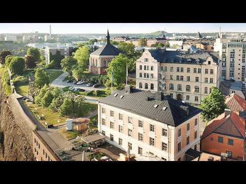 Ersta konferens & hotell, Ersta terrass och Erstaklippan från ovan