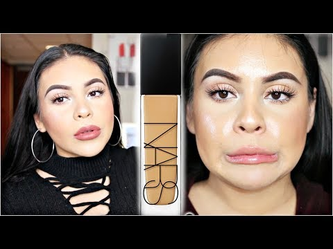 NEW NARS NATURAL RADIANT LONGWEAR FOUNDATION: REVIEW, DEMO + 10 HOUR WEAR TEST | JuicyJas - UCqTR5f7YkGro3cPv23SqcqQ