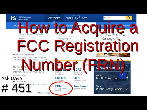 How to Acquire a FCC Registration Number (FRN) (#451)
