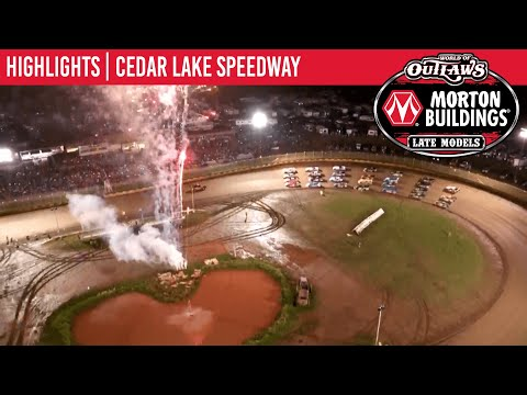 World of Outlaws Morton Building Late Models at Cedar Lake Speedway August 7, 2021   HIGHLIGHTS - dirt track racing video image