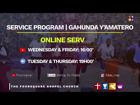 FOUIRSQUARE TV  AGATATU SERVICE By Bishop Dr. Fidle MASENGO - 10.02.2021