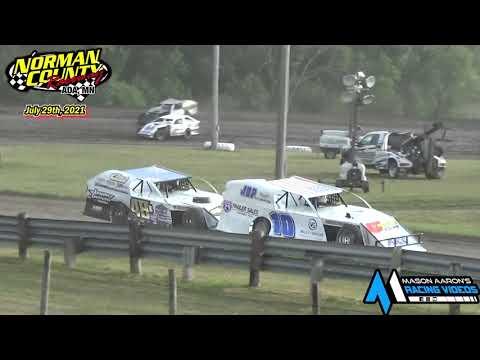 Norman County Raceway IMCA Modified Races (7/29/21) - dirt track racing video image