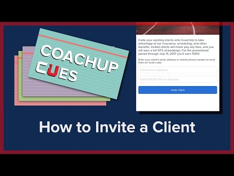 How to Invite a Client | CoachUp Cues
