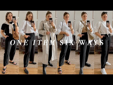 Six Outfits I Already Own | Styling Black Trousers | I Covet Thee