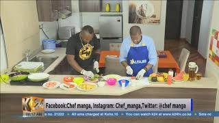 #HangOutFriday: Chips mayai served with shredded cabbage and fruit salad (PT1)