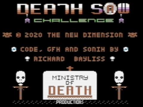 RETROJuegos Homebrew - Death Saw Challenge c 2020 The New Dimension p/ Commodore 64