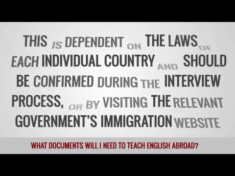 video about the documents required for a TEFL position abroad