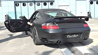 800HP Porsche 996 Turbo by 9ff Anti-Lag Launch Control Sounds!