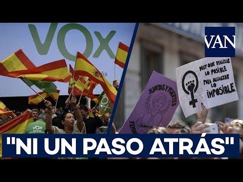 """""""Ni un paso atrás"""": el feminismo se levanta contra VOX"""