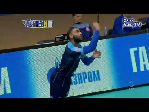 Earvin Ngapeth's first points in #CLVolleyM wearing the colours of Zenit Kazan