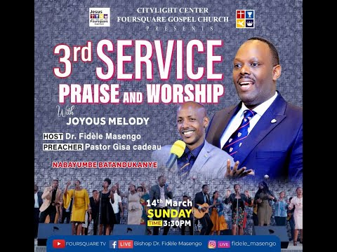 FOURSQUARE TV  ''Sunday 3rd Service'' With Pastor GISA Cadeau 14 .03.2021.