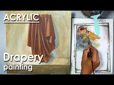 How to Paint Folds in Fabric in Acrylic (Drapery Painting)