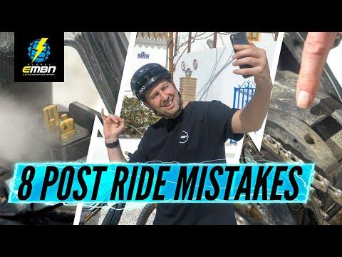 8 Common Post Ride Mistakes | Important E-Bike Maintenance Advice