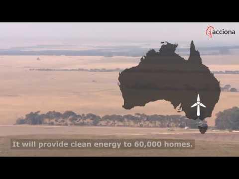 Mt. Gellibrand (132 MW), ACCIONA's fourth wind farm in Australia, under construction
