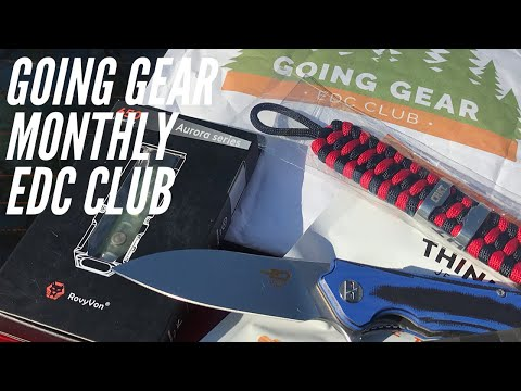Unboxing the Going Gear EDC Club Monthly Subscription: New Knife, Flashlight, Paracord Bracelet