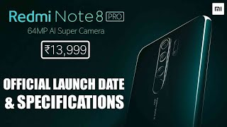 Redmi Note 8 Pro Launch Date in India | Price & Specifications | 64MP Quad Camera