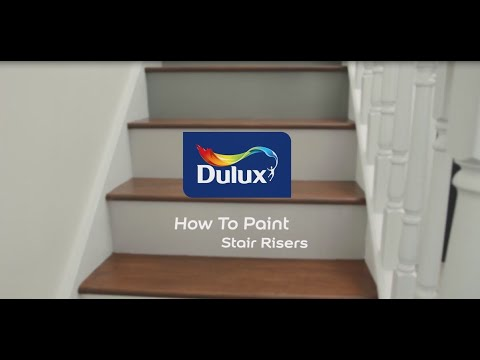 How To Paint Stair Risers - Painted Wooden Stairs | Dulux