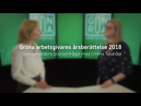 Gröna arbetsgivares årsberättelse 2018 - Emma Terander, ansvarig samhällspåverkan och omvärld