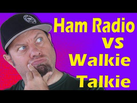 Ham Radio vs Walkie Talkie | Handheld Ham Radio Comparison