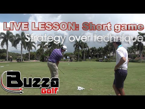 LIVE SHORT GAME LESSON (Strategy over technique)- you should 'probably' watch this