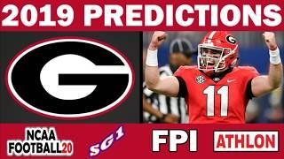 Georgia 2019 Football Predictions - Comparing Sources