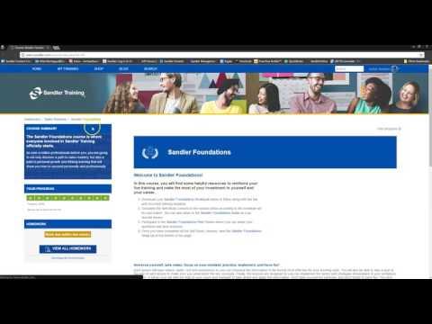 Sandler Online Training Platform Overview