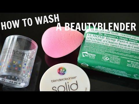 How to wash makeup sponge