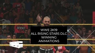 WWE 2K19 All Rising stars DLC Winning Animations