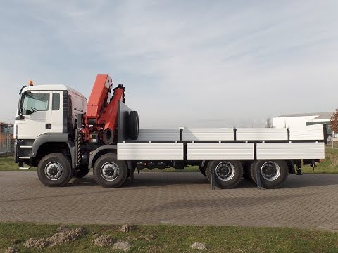 ma3910 - Palfinger crane mounted on MAN 8x8 chassis - NEW