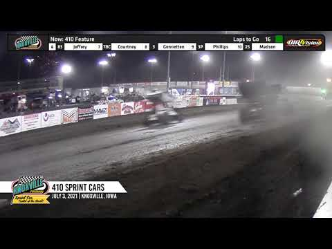 Knoxville Raceway 410 Highlights - July 3, 2021 - dirt track racing video image