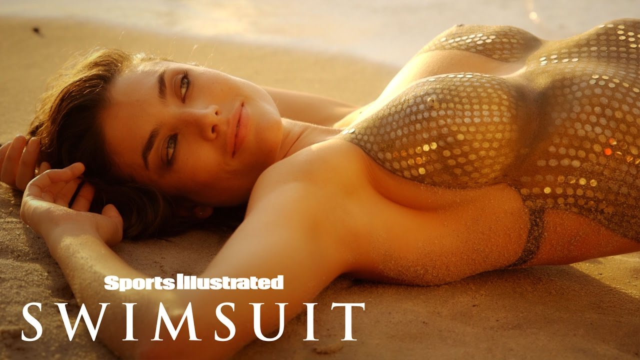Lauren Mellor Shines In Glittery Sequin Body Painting   Sports Illustrated Swimsuit