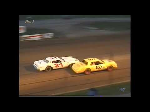 Full race from the Factory Stock division at Hartford Speedway Park in MI August 4, 2000. - dirt track racing video image