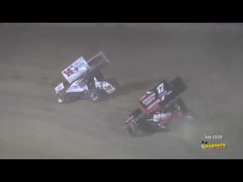 Styres Racing 360 Sprintcar July 13/18 Ohsweken Speedway - dirt track racing video image