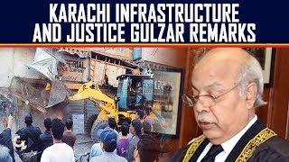 Karachi infrastructure and justices Gulzar remarks  16th June 2019 Sana Hashmi   GTV News