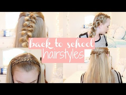 5 Easy & Cute Back To School Hairstyles♡ | No Heat/ Second Day Hairstyles - UC1ctTQBRx2MK4AxwRBpSOqg