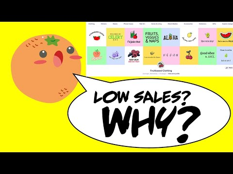 LOW SALES on this Redbubble Shop – WHY?  Zen Podcast 015
