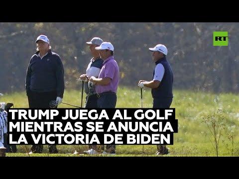 Trump estaba en un campo de golf cuando fue anunciada la victoria de Joe Biden en las presidenciales