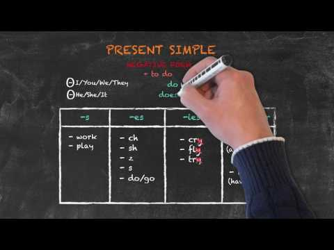 Overview of All English Tenses - Present Tenses - Present Simple Negatives and Questions