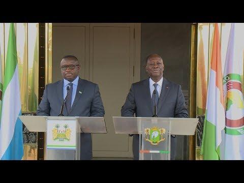 Déclaration conjointe des Présidents Alassane OUATTARA et Julius Maada Bio