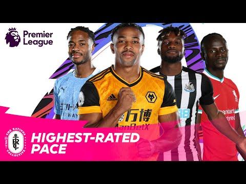 FASTEST Premier League Players in FIFA 21 | Traore, Saint-Maximin, Sterling, Mane | AD