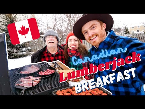 Canadian LUMBERJACK BREAKFAST 🇨🇦🍳: Cooking Outside in the Snow in -20°C in the Middle of WINTER!