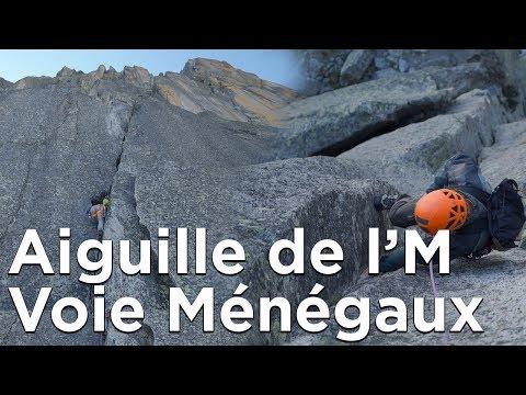 Voie Ménégaux Aiguille de l'M Aiguilles de Chamonix Mont-Blanc escalade alpinisme montagne